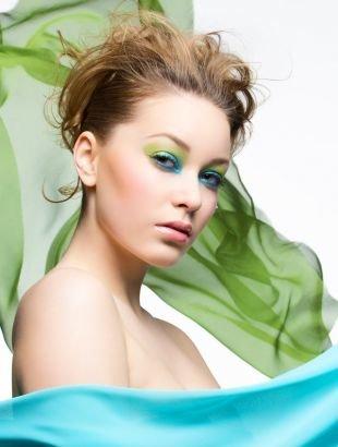 Летний макияж для зеленых глаз, яркий летний макияж