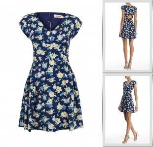 Синие платья, платье louche, весна-лето 2015