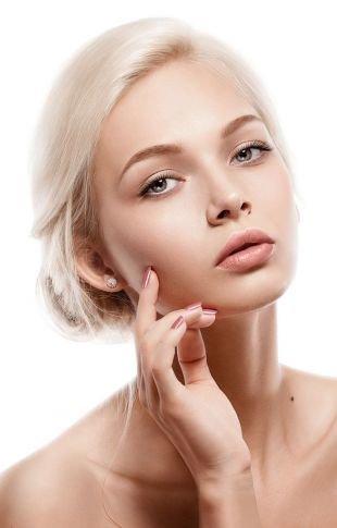 Свадебный макияж в персиковых тонах, натуральный летний макияж для блондинок