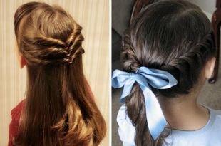 Быстрые прически на длинные волосы, прическа в школу на каждый день
