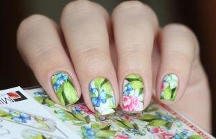 Рисунки с бабочками на ногтях, весенний маникюр с цветами и бабочками