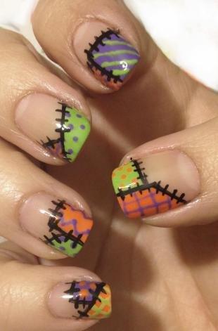 Рисунки акриловыми красками на ногтях, модные идеи летнего маникюра