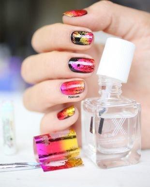 Модные рисунки на ногтях, маникюр в яркой осенней гамме цветов