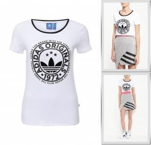 Белые футболки, футболка adidas originals, осень-зима 2016/2017
