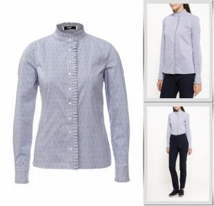 Голубые блузки, блуза adl, осень-зима 2016/2017
