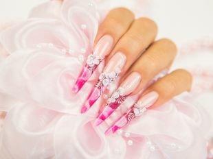 Дизайн ногтей, дизайн ногтей с акриловыми цветами