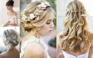Прическа коса с челкой, свадебные прически на длинные волосы с плетением