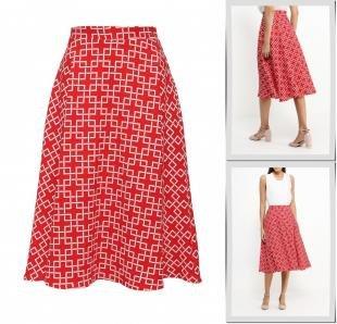 Красные юбки, юбка love & light, осень-зима 2016/2017
