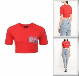 Красные футболки, футболка topshop, осень-зима 2016/2017