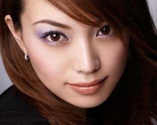 Восточный макияж для карих глаз, японский макияж