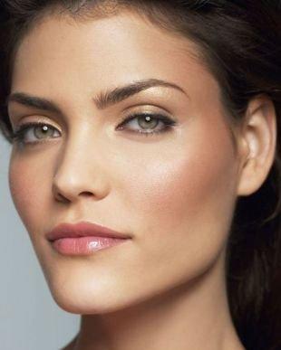 Дневной макияж для серых глаз, дневной макияж для девушек со смуглой кожей