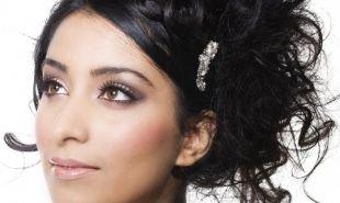 Свадебный макияж в персиковых тонах, восхитительный макияж для брюнеток с карими глазами