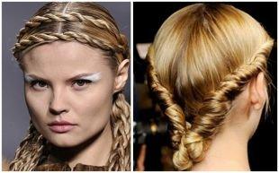 Прически с ободком на резинке на длинные волосы, фееричные прически с косами на выпускной