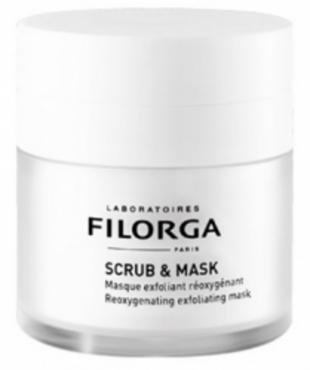 Скраб для кожи лица, филорга скраб-маска отшелушивающая оксигенирующая 55 мл