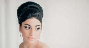 Прически в стиле 50 х годов на длинные волосы, прекрасная прическа бабетта