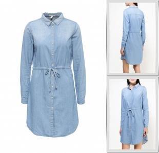 Голубые платья, платье джинсовое springfield, осень-зима 2016/2017