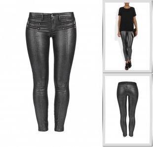Серебряные джинсы, джинсы bebe, весна-лето 2014
