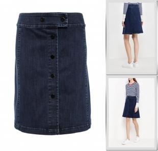Синие юбки, юбка джинсовая pennyblack, осень-зима 2016/2017