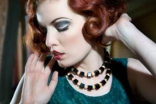 Темный макияж для рыжих, макияж в стиле чикаго 30-х годов для рыжих волос