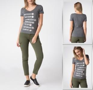 Серые футболки, футболка defacto,