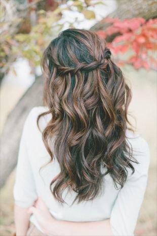 Причёски с распущенными волосами на длинные волосы, легкая прическа водопад
