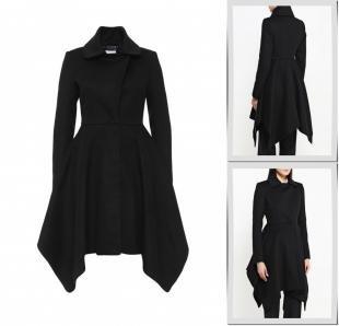 Черные пальто, пальто patrizia pepe, осень-зима 2016/2017