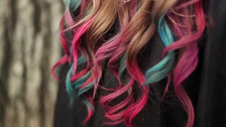 Цветные мелки для волос - пример