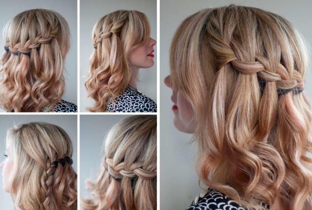 Прически для средних волос в домашних условиях косы