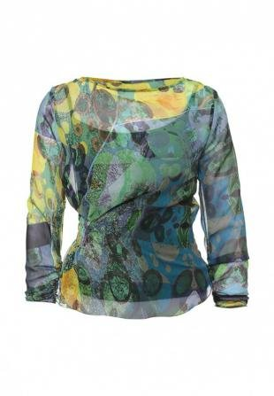 Зеленые блузки, блуза d.va, осень-зима 2016/2017