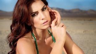 Макияж для каре-зелёных глаз, макияж для похода на пляж