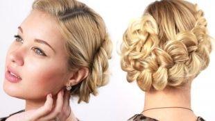 Цвет волос теплый блонд, прическа на 1 сентября - широкая коса