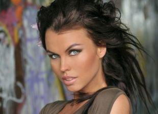 Макияж для близко посаженных глаз, макияж для голубых глаз и темных волос