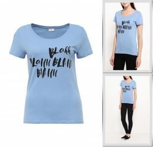 Голубые футболки, футболка jacqueline de yong, осень-зима 2016/2017