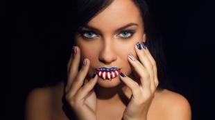 """Легкий макияж на хэллоуин, макияж на хэллоуин """"американский флаг"""""""