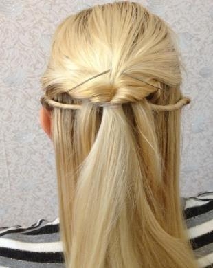 Цвет волос скандинавский блондин на длинные волосы, оригинальная прическа за 5 минут