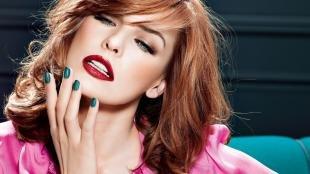 Красивый макияж, макияж для рыжих с красной помадой