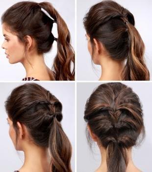 Красивая быстрая прическа на длинные волосы
