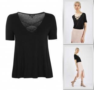 Черные футболки, футболка topshop, осень-зима 2016/2017