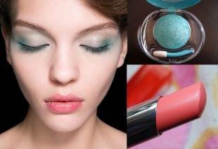 Клубный макияж, макияж глаз с использованием изумрудных теней