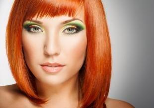 Макияж для зеленых глаз под зеленое платье, яркий макияж для рыжих