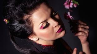 Вечерний макияж для карих глаз, красивый вечерний макияж для брюнеток