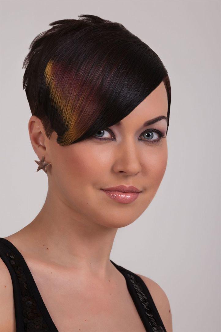 Креативная стрижка для тонких волос